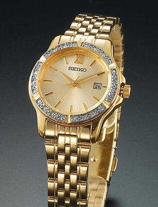 正規SEIKOセイコー使用モデル腕時計ダイヤモンドcz