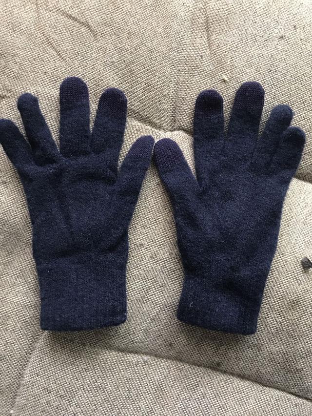 美品紺色 手袋 - フリマアプリ&サイトShoppies[ショッピーズ]