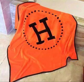 毛布 ブランケット オレンジ