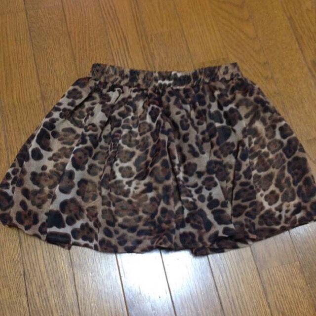 オリーブデオリーブ 豹柄 レオパード スカート ショーパン