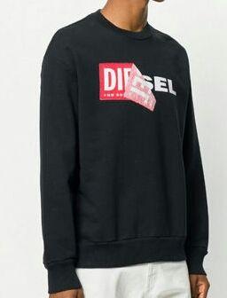 訳あり Diesel スウェット ロゴ ブラック L