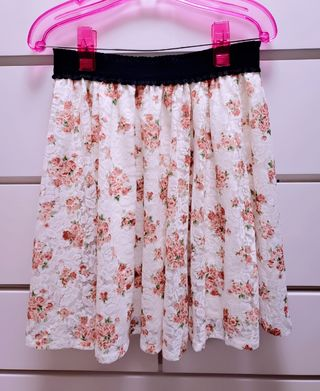花柄スカート フラワー ウエストゴム