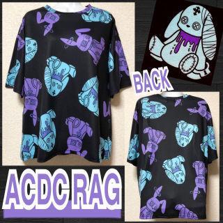 【新品/ACDC RAG】バニードール総柄Tシャツ