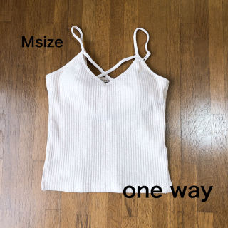 【one way】 クロス リブ キャミソール
