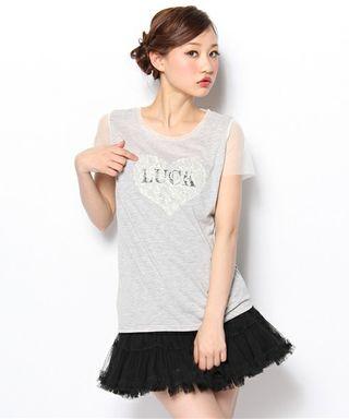 春夏*jouetie LUCK レースTシャツ