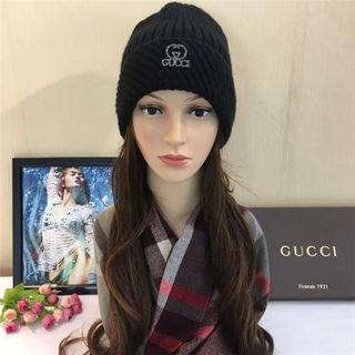 GUCCI 秋冬新作 ニット帽子 logo 大人気 国内発送