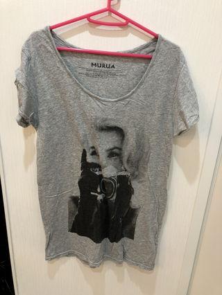 MURUA Tシャツ グレー