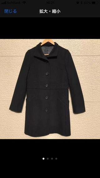 iCB コート 9 黒 ブラック カシミヤ混