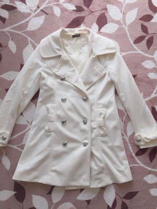 リボンつき ホワイトコート