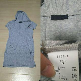 イマージュ フード付き Tシャツ グレー S