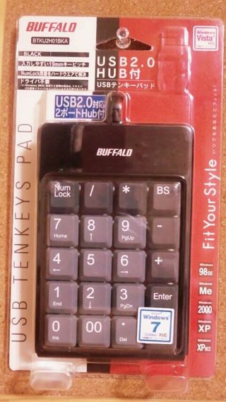 【BUFFALO】 USB付きテンキーパッド