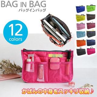 バッグインバッグ 12色  コンパクト トートバッグ