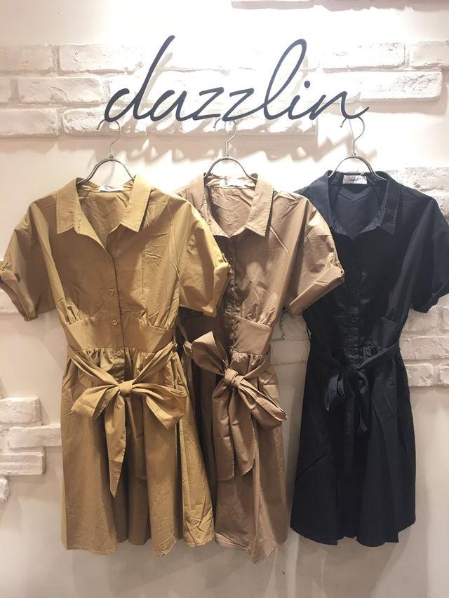 モテ度UP【dazzlin/カラーシャツワンピース】