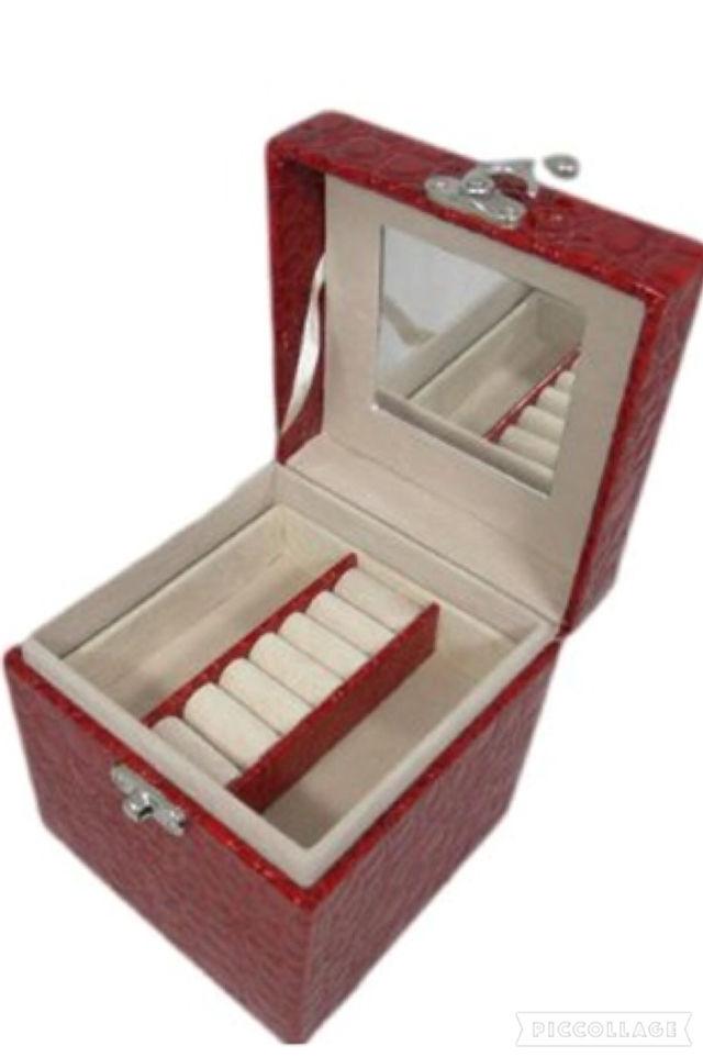 クロコ調 ジュエリー ボックス 宝石箱 アクセサリー ケース(ノーブランド ) , フリマアプリ