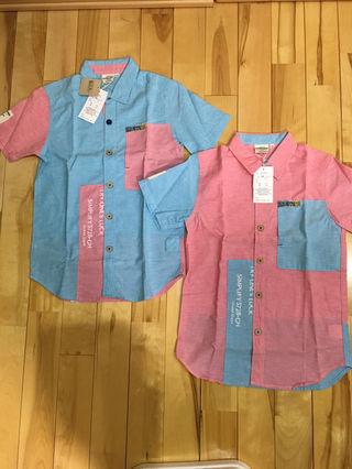 新品未使用タグ付き・男児150サイズ半袖シャツ2枚組