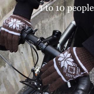1to10peopleノルディック柄手袋Brown