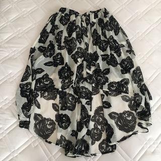 JURIANO  JURRIEローズフィッシュテールスカート