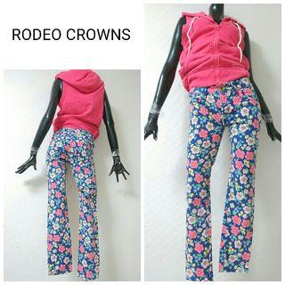 RODEO CROWNS*レトロフラワーパンツ