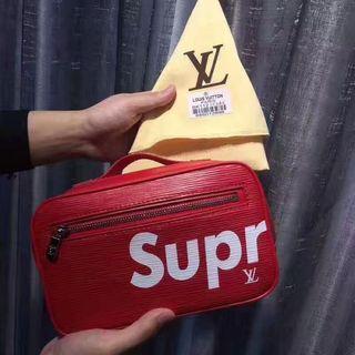 SUPREME &LV クラッチバッグ