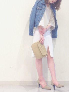 定価8040who'swho ブルーレースタイトスカート