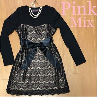 Pink Mixドレスワンピ