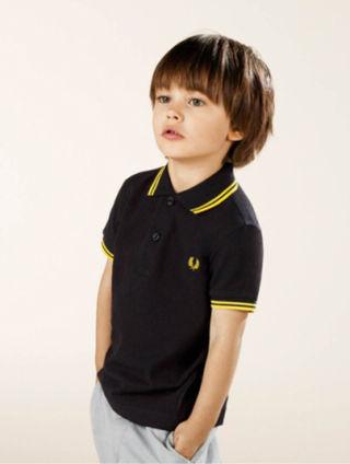 【新品未使用】フレッドペリー 鹿の子ポロシャツ 2~3歳