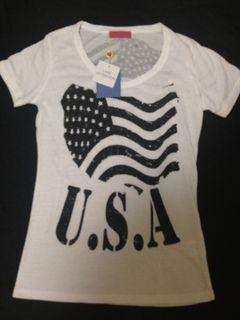 USAプリントTシャツ