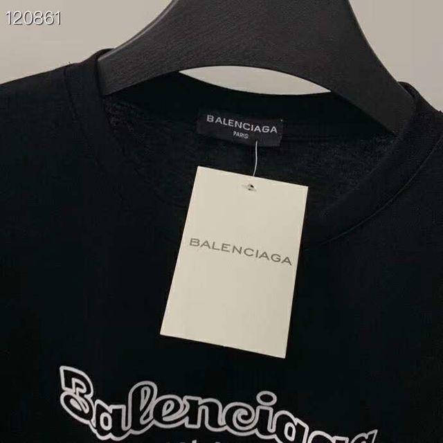 バレンシアガ 男女兼用 プリント 半袖Tシャツ