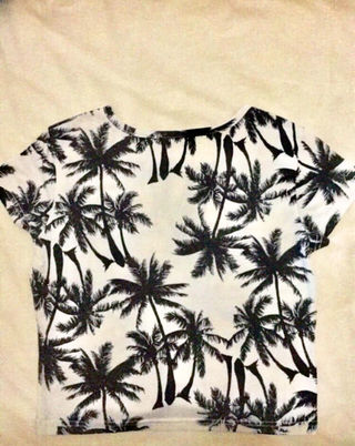 ヤシの木柄Tシャツ