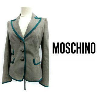 moschino イタリア製 バイカラーテーラードジャケット