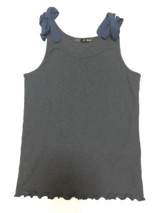 Heather 肩リボン タンクトップ