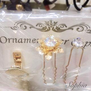 定価1728円sophia ヘアジュエリー3点SET