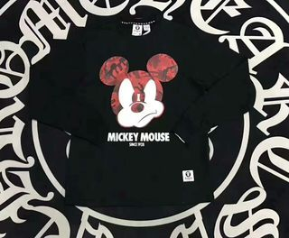 AAPE×Disney ミッキーマウス 長袖Tシャツ