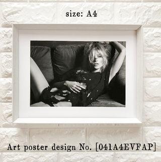 【041A4EVFAP】Kate Moss アートポスター