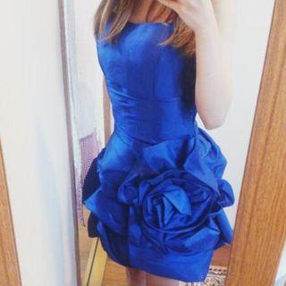 今期新作ドレス♪BIGローズバルーンミディパーティードレス