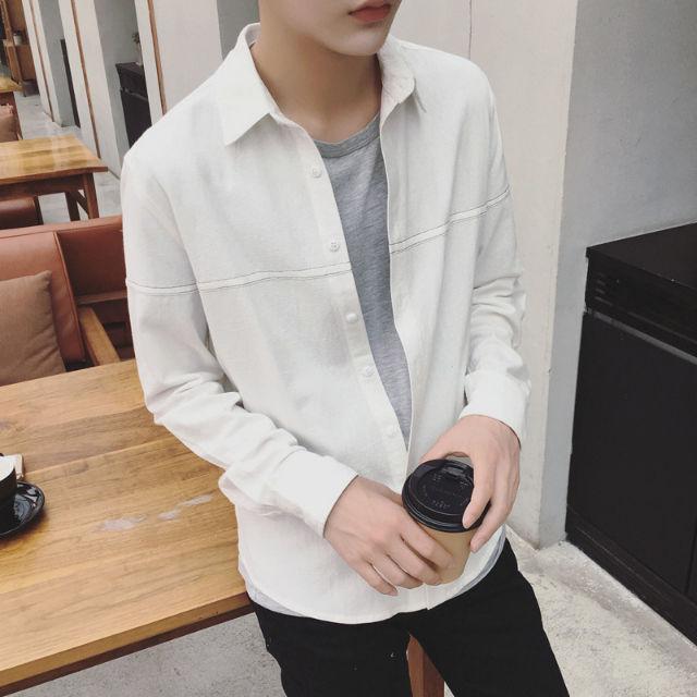 人気新品メンズシャツ長袖カジュアルスリムB97-1 - フリマアプリ&サイトShoppies[ショッピーズ]