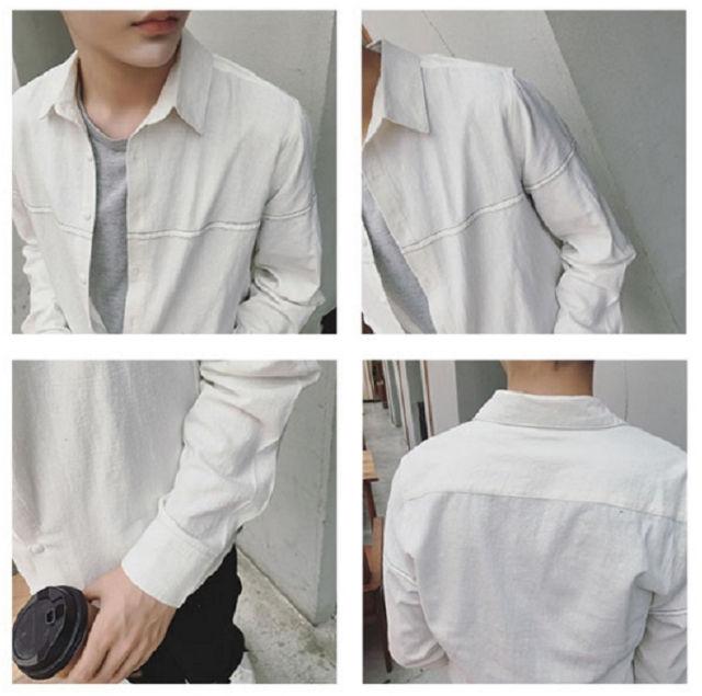 人気新品メンズシャツ長袖カジュアルスリムB97-1