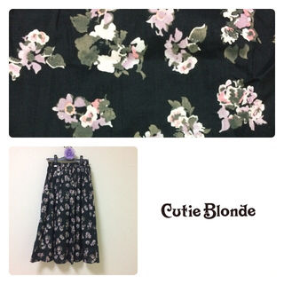 cutie blonde花柄ロングスカート