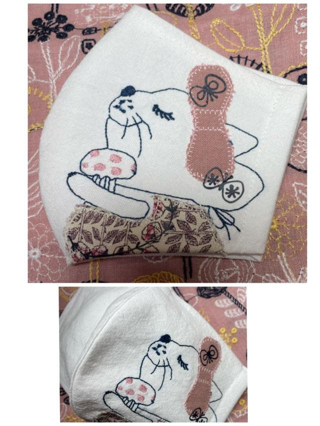 ミナペルホネン ネコちゃん刺繍 インナーマスク(mina perhonen(ミナペルホネン) ) - フリマアプリ&サイトShoppies[ショッピーズ]