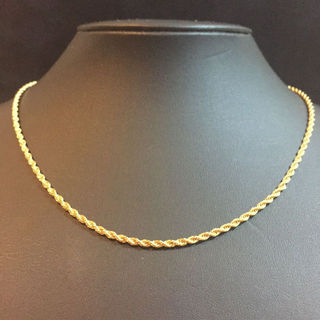 18K GOLD PLATED ロープチェーンネックレス