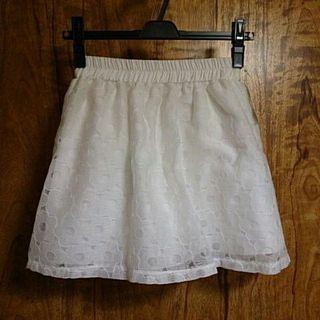 しまむらデイジー刺繍スカート