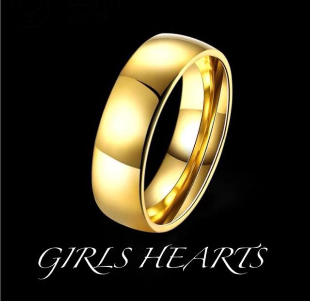 送料無料20号イエローゴールドステンレスシンプルリング指輪 - フリマアプリ&サイトShoppies[ショッピーズ]