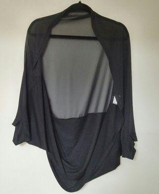 F~2way シフォン異素材 ボレロ カーデ 羽織り