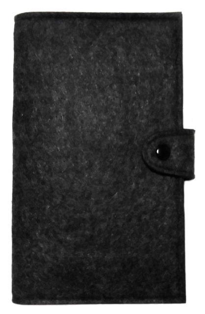 フェルト 多機能 母子手帳 パスポートケース ブラック(ノーブランド ) - フリマアプリ&サイトShoppies[ショッピーズ]