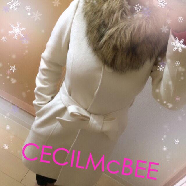 キレイめ白コート(CECIL McBEE(セシルマクビー) ) - フリマアプリ&サイトShoppies[ショッピーズ]