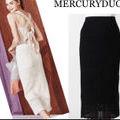 MERCURYDUO完売品クロシェニットタイトスカート