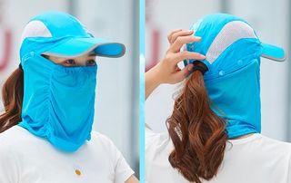 【新品】日除け UVカット 帽子 レディース 紫外線 熱中症