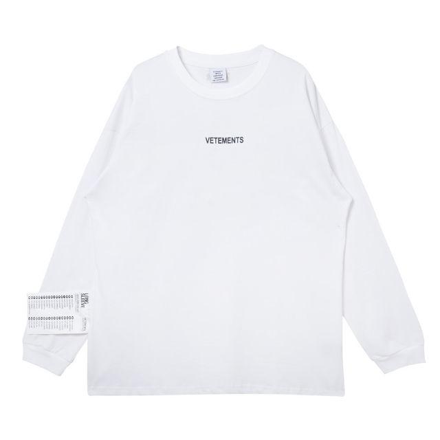 VETEMENTS ヴェトモン 長袖Tシャツ 男女兼用 - フリマアプリ&サイトShoppies[ショッピーズ]