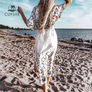 新品 CUPSHE ボヘミアン  カバーアップ ビーチドレス