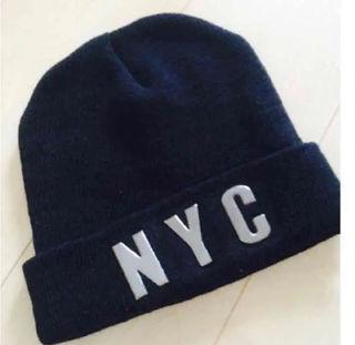 NYC ロゴ ビーニー ニット帽